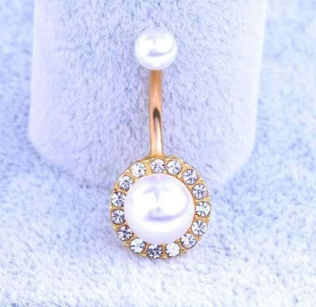 2016 חדש טבעת פירסינג תכשיטים להתנדנד פרל כירורגי פלדת ניקל משלוח