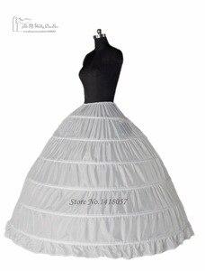 Image 3 - الكرة ثوب 6 طارة تنورات تحتية الكامل قماش قطني ل فستان الزفاف اكسسوارات الزفاف شحن مجاني