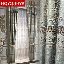 Europejskie luksusowe 3D tłoczone niestandardowe zasłony zaciemniające do salonu królewskie arystokratyczne zasłony do sypialni/okien kuchennych