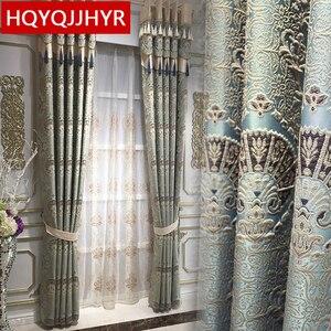 Image 1 - Europese luxe 3D reliëf custom Verduisterende gordijnen voor Woonkamer royal aristocratische gordijnen voor Slaapkamer/Keuken Windows
