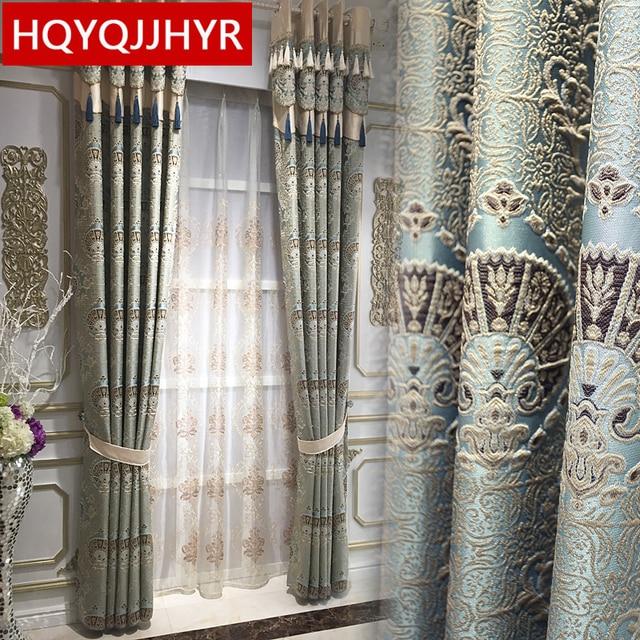 Europese luxe 3D reliëf custom Verduisterende gordijnen voor Woonkamer royal aristocratische gordijnen voor Slaapkamer/Keuken Windows