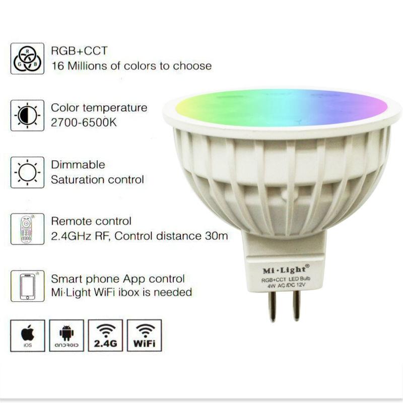 4W RGB+CCT MR16 GU10J