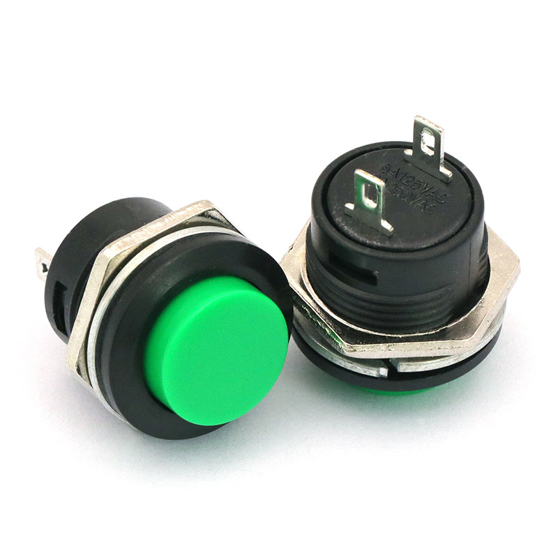 50PCS 16mm Momentary Stainless Steel Metal Push Button Switch Hobby Home Deocr
