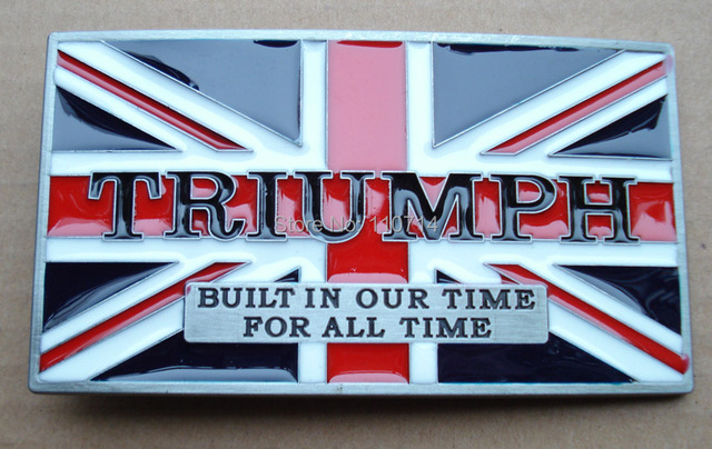 New Buckle SW10-2042 MOTOR TRIUMPH BELT BUCKLE RED COLOR