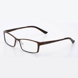 Image 5 - Reven Jate B2037 Optische Brillen Frame Voor Mannen En Vrouwen Bril Prescription Rx Aluminium Frame Bril Volledige Velg