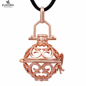 Image 1 - 5H044 5PCS/lot  Rose Gold Platd Locket Baby Pendant fit for 18mm Musical Bola Pendants Jewelry Wholesales