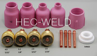 TIG Consumables KIT Large Diameter Alumina Nozzle Gas Lens Collet Bodies Fit TIG Welding Torch PTA DB SR WP 1