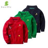 Esbelto Marca para 2017 Primavera Otoño Otoño Niños Lindos Niños Niñas Fleece Solid Bordar Ropa Outwear Capa de la Chaqueta de Bombardero