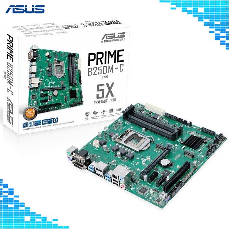 Asus PRIME B250M-C Motherboard Intel B250 socket LGA 1151 4*DDR4 DIMM Desktop Motherboard