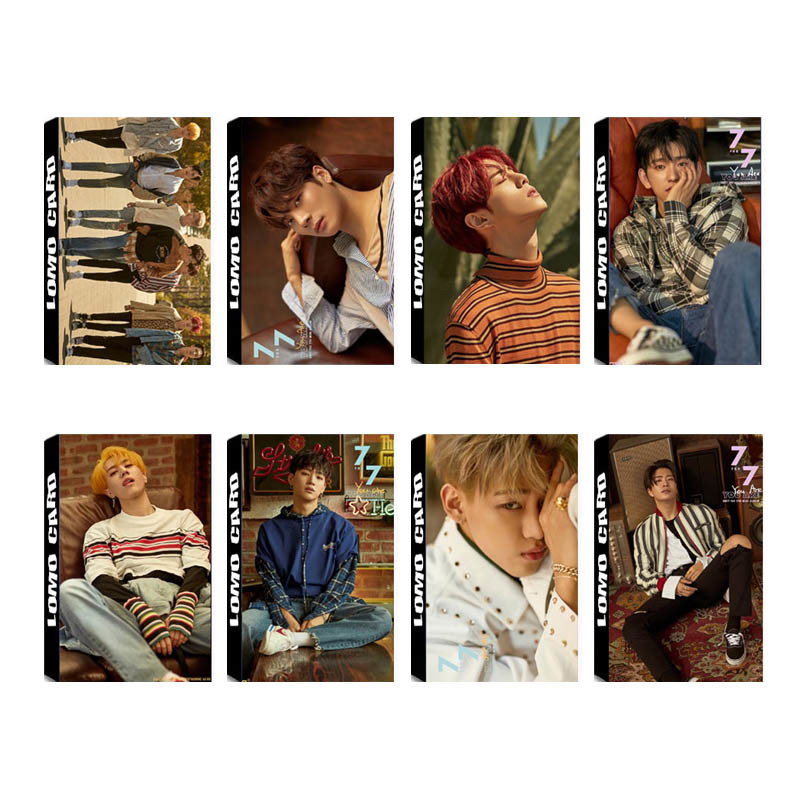 KPOP GOT7 7FOR7 Album LOMO Cards K-POP New Fashion Self Made Paper Photo Card HD Photocard
