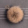 Luxury Purse Charm Raccoon Fur Keychain 15 CM Pom pom Ball Keyring Pendant Key Chains Key Holder Women Accessory Gift
