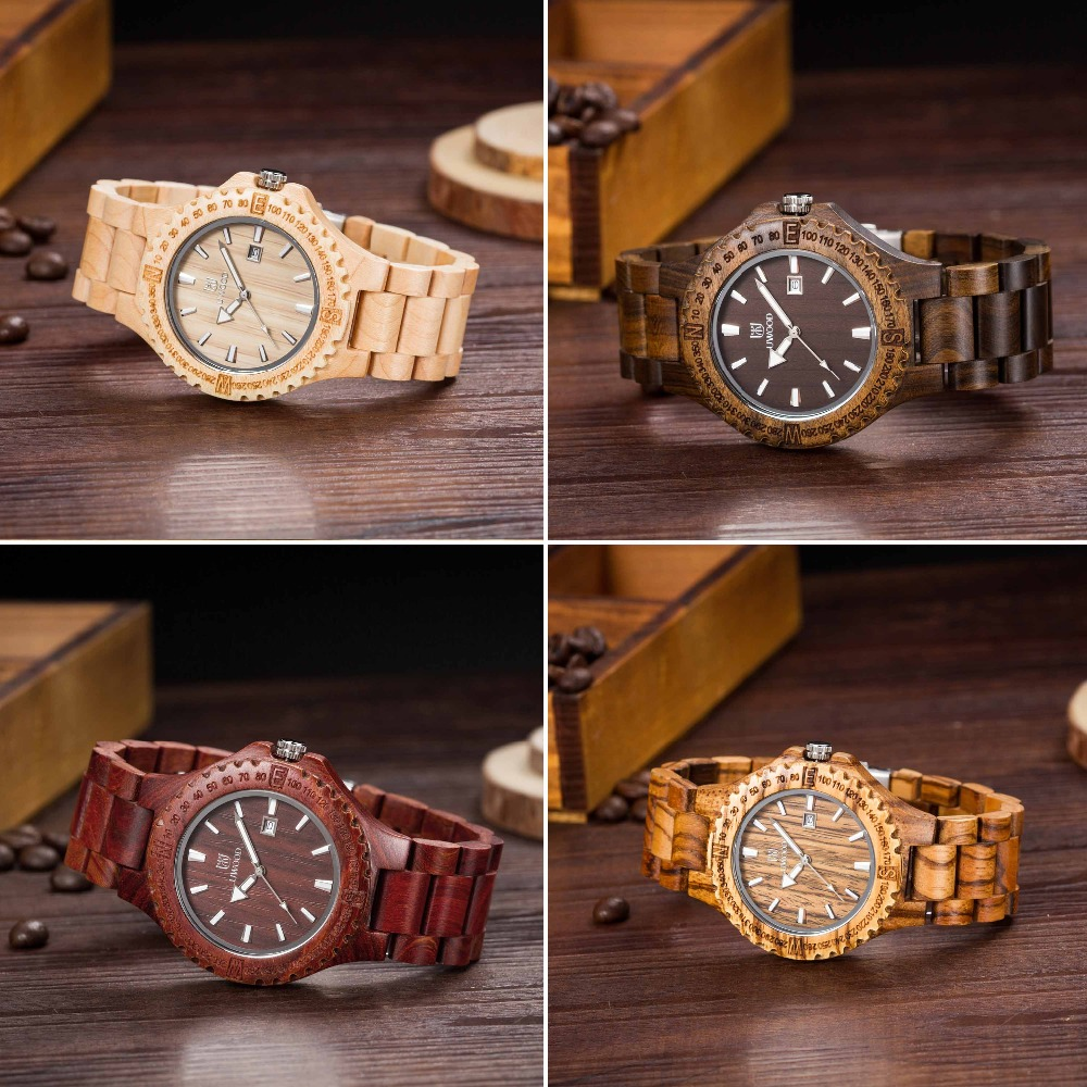 New Top Brand UWOOD Watch Wood Watches Men Waterproof Luminous Clock Men Women Wooden Watch Relogio Feminino Masculino 2016 redear top brand wood watch men women wooden watches japan miyota fashion watch leather clock relogio feminino relogio masculino