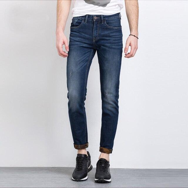 8d432c6a0eb2 Design Famous Casual Denim Jeans Men Straight Slim Middle Waist Men Jeans  Vaqueros Hombre
