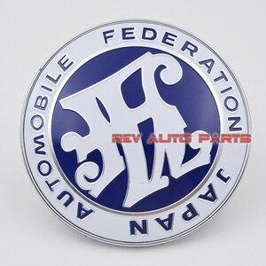 Image 4 - 送料無料! ユニバーサルブルー色jdm車フロントグリルjafエンブレムバッジ