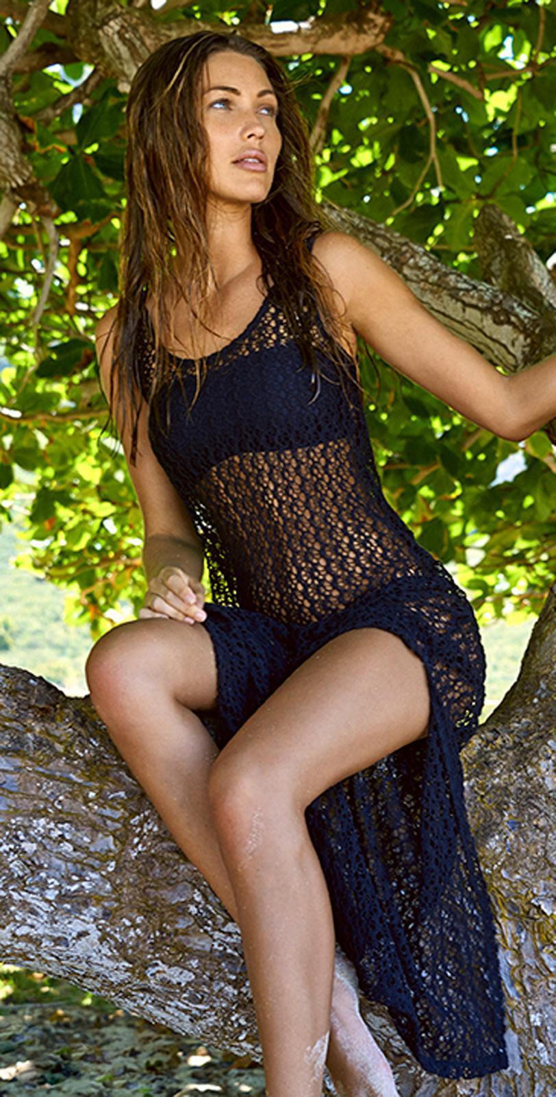 326d2cb20de6 Women Sexy Beach Dress 2016 Summer Style Net Yarn Hollow Out Maxi ...
