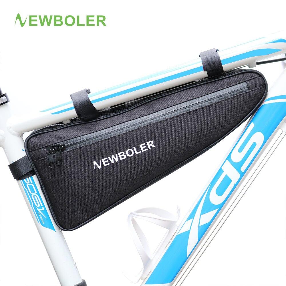 NEWBOLER bolsa triángulo bicicleta marco frente tubo bolsa de ciclismo impermeable batería Pannier bolsa de embalaje accesorios sin labios