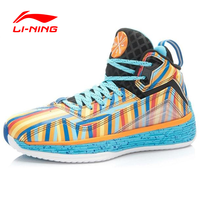 LI-NING Outdoor Basketball Shoes Men Bounse Techonology Tuff OS Lace-Up Damping Wade Sneakers Sport  Shoes ABFK011 XYL049