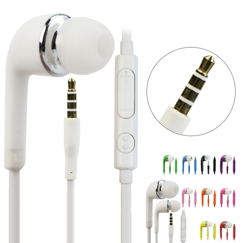 OOTDTY In-Ear Earphone Stereo Earbud Mic for Samsung Galaxy S5 S4 S3 Note 4 3 s6 3 5mm in ear earphones headset with mic volume control remote control for samsung galaxy s5 s4 s7 s6 note 5 4 3 xiaomi 2