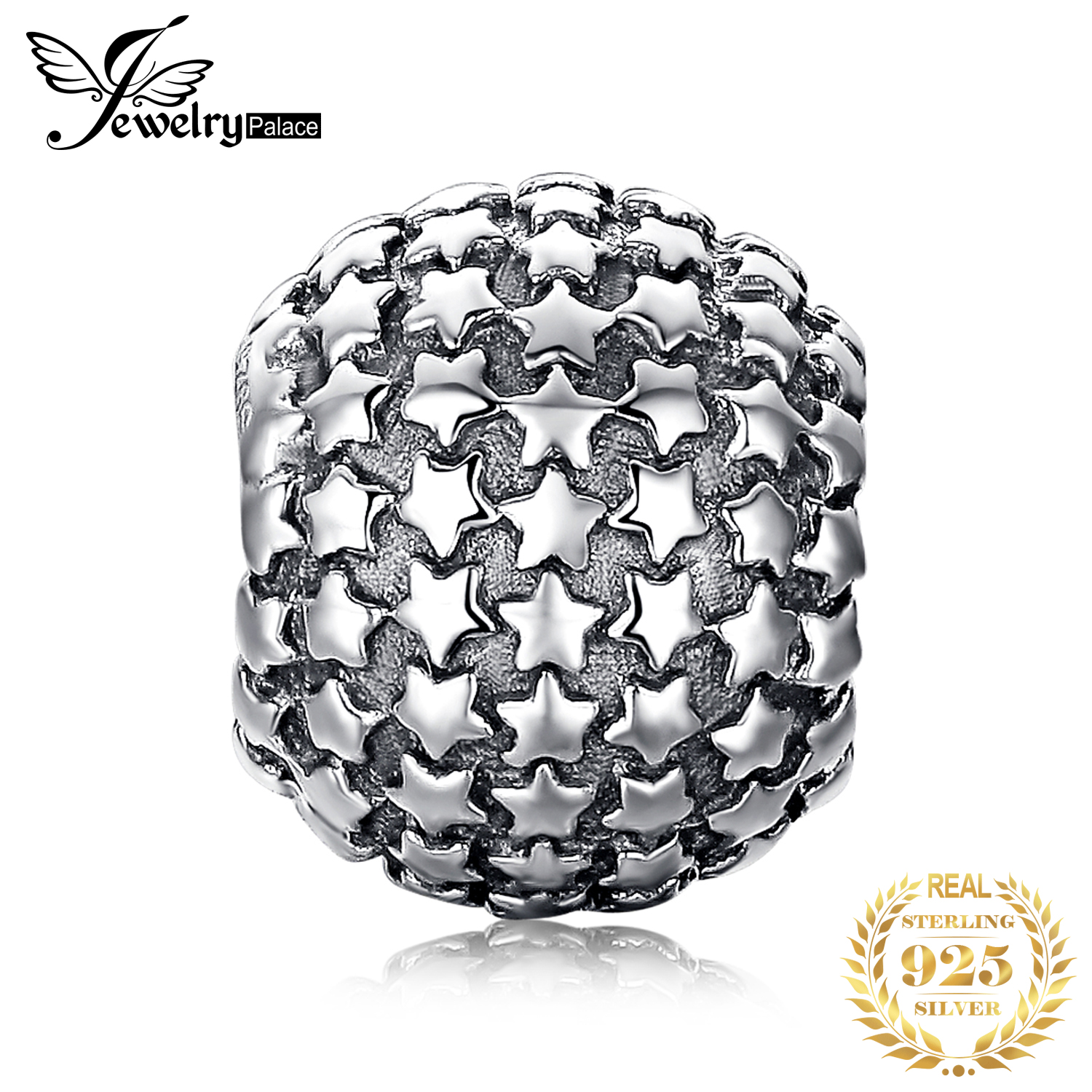 Jewelrypalace Star 925 Sterling Silver Beads Charms Silver
