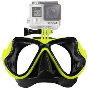 Image 2 - Аксессуары для водных видов спорта, маска для плавания, очки для взрослых, оборудование для дайвинга для GoPro HERO5 HERO4, HERO 5 4 3 2 1
