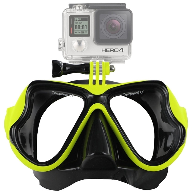 Water Sports Diving Accessories Swimming Mask Glasses Adult Snorkeling Equipment for GoPro HERO5 / HERO4 Session / HERO 5 / 4/3