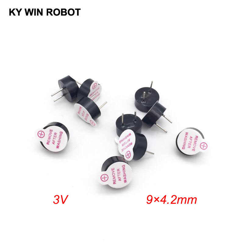 10PCS New Ultra-thin 3V Active Buzzer Alarm AC 9MM*4.2MM 9x4.2MM 0942 MINI Active Piezo Buzzers Fit For Arduino Diy Electro