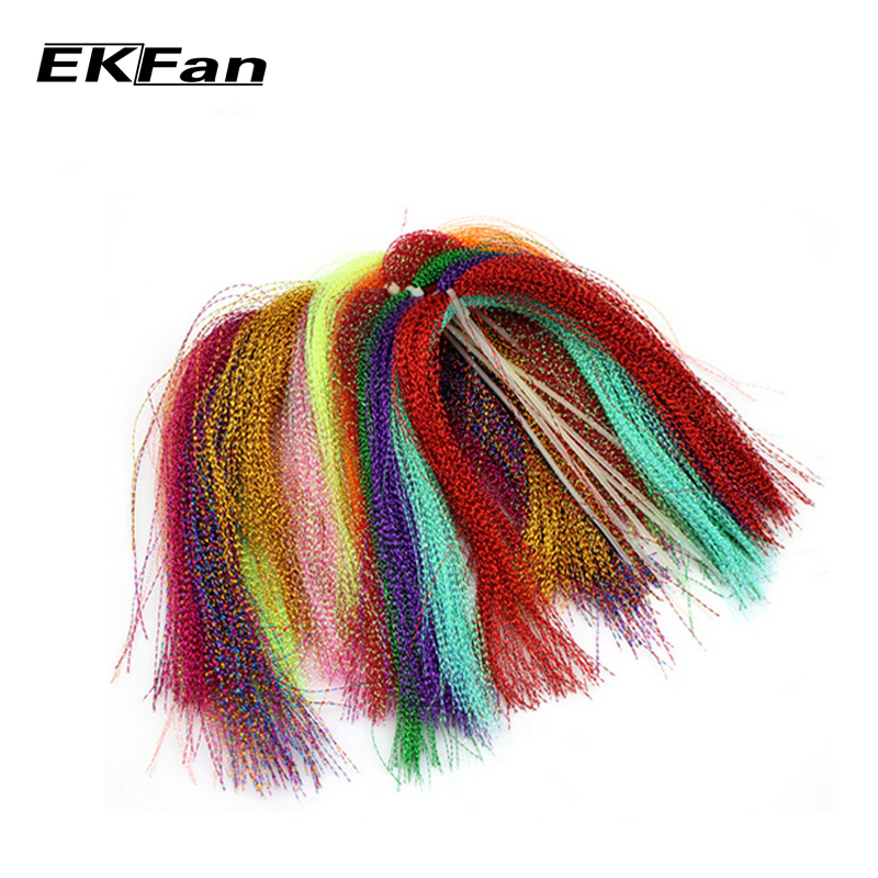 10 packs flashabou holographic tinsel fly fishing tying for Tying a fishing lure