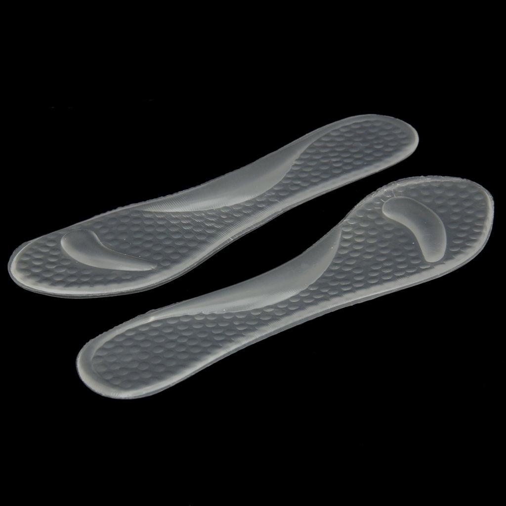 1 pair Transparent Gel Insoles with Forefoot Arch Support Foot Fatigue/ Dtress/ Pain/ Massage все цены