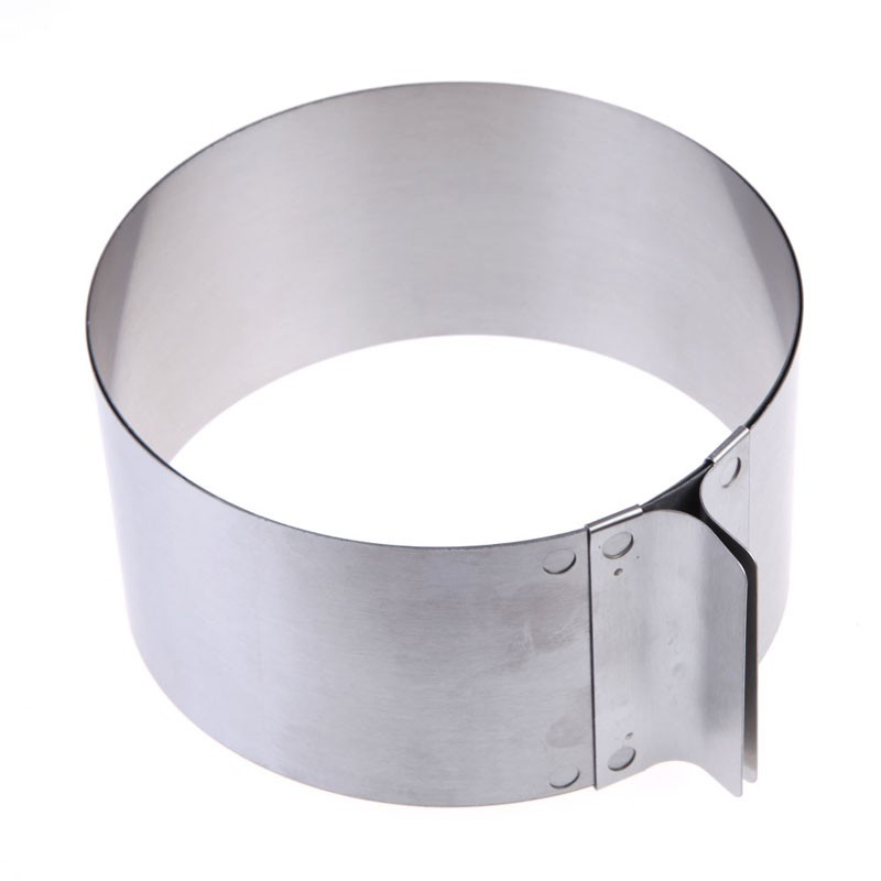 Wlcome Household Hand Practical Tool 丨6-12inch Retractable Stainless Steel Circle Mousse Cake Ring DIY Baking Tool Home Repair Tool Silver
