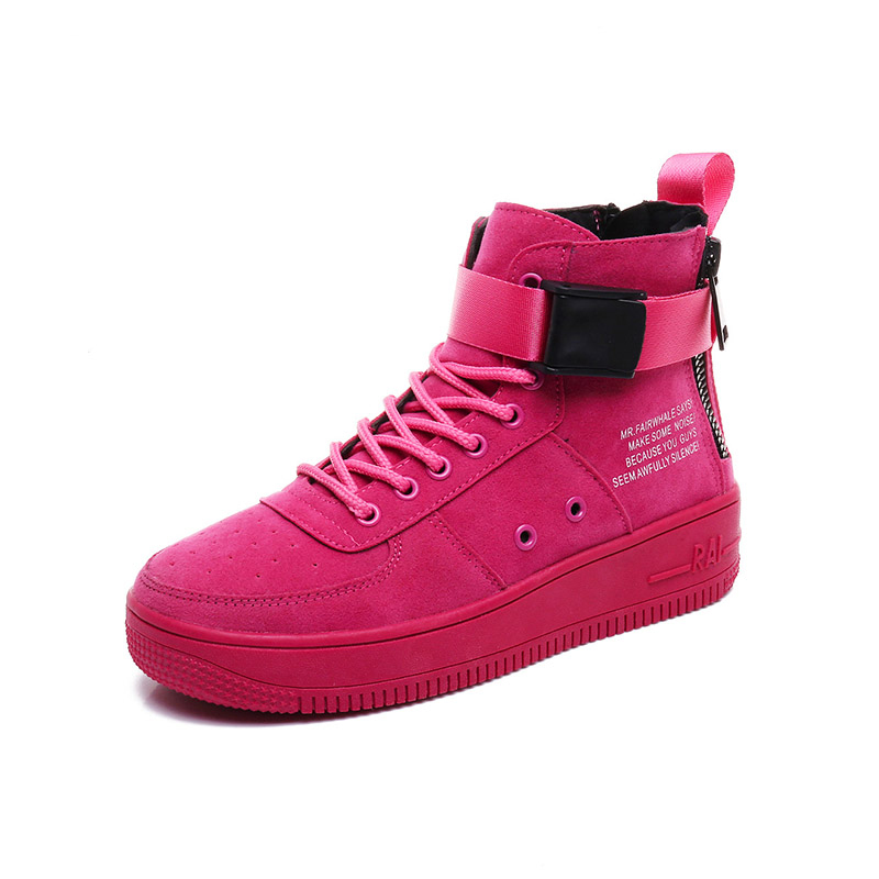 2018 Hip Hop Women Shoes Street Dance High To Help Female Wild Street Tide Shoes Women Sneakers Platform Zapatos Casuales Mujer
