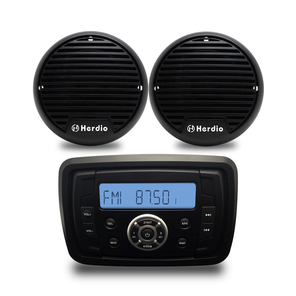 4 ''2 voies étanche haut-parleurs Marine Bluetooth Audio Radio FM AM MP3 musique stéréo lecteur pour ATVUTV voiture extérieur bateau accessoires