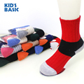 KID'S BASIC Winter Children Thick Warm Wool Socks Baby Sock 1-10 Y Girls Boys Stripped Patchwork Socks Kids Unisex