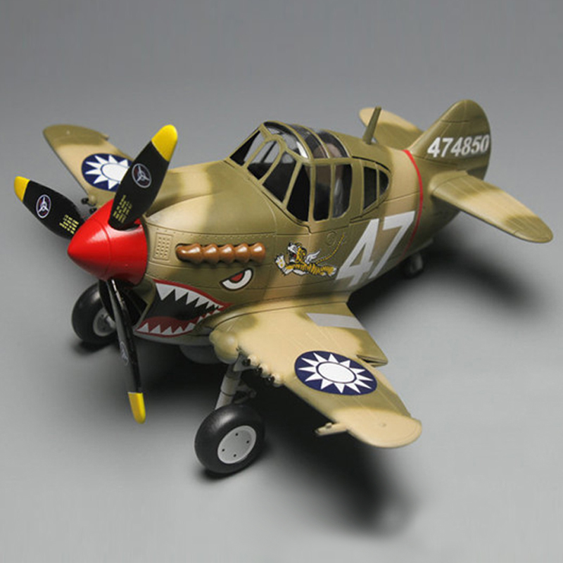 DIY TIGER F4U toy Tiger cute spitfire assembly glue Fighter Flying Tigers model of Q machine egg machine image
