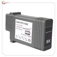 1 Matte Schwarz 130ml Kompatibel tinte patrone PFI 102 tinte für Canon IPF 700/710/720/765/760/650/655/750/755/600/610/605/500/510|pfi 102|ink cartridgeink for canon -