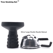 New Silicone Glass Shisha Hookah Bowl Chicha Narguile Nargile Smoking Pipe Accessories Cachimba Head Gift TWAN0389