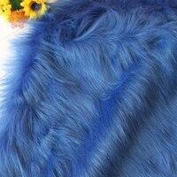 Royal blue 9cm plush faux fur fabric for winter coat vest stage cosplay decor long fur fabric tissue DIY 150*50cm 1pc SP5420
