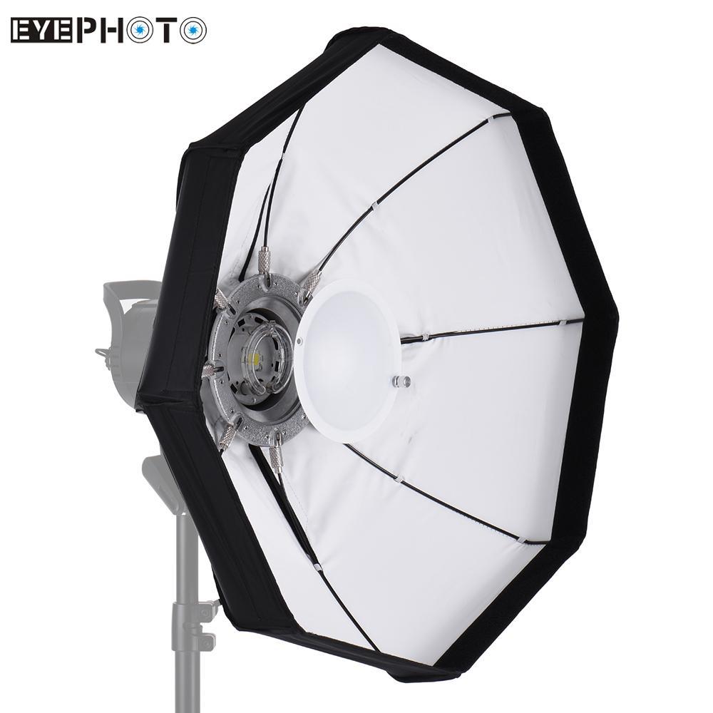 Prix pour 8-Pole 60 cm Blanc Pliable Beauté Plat Softbox avec Bowens Mont pour Studio Strobe Flash Light