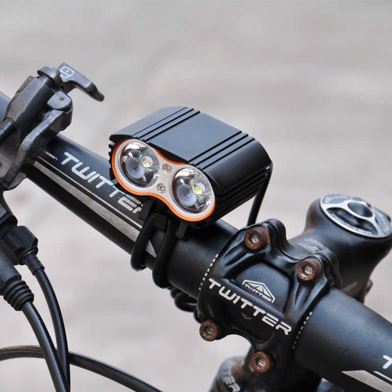 New Waterproof 3000LM XM-L T6 LED Bicycle USB Head Light Lamp Accesorios para bicicletas ...