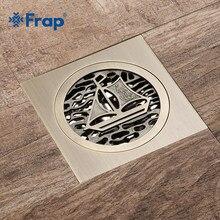 Frap nowy brązu prysznic spustowy wzór pokrywa mosiądz rzeźbione sztuki Euro odpływy podłogowe antyczny mosiądz prysznic dezodorant odpływ podłogowy Y38085