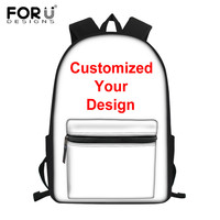 FORUDESIGNS New Backpack Customize Prints Preppy School Backpack for Teenager Kids Bookbag Feminine Laptop Bagpack Women Satchel