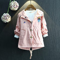 Children Clothing Autumn Baby Girls Jackets And Coats Long Sleeve Cartoon Hooded Fashion Girls Outwear Toddler Cardigan 2-8Years