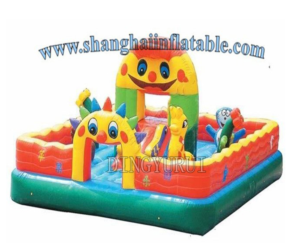 Outdoor fun city, inflatable bouncy castle, jumping castle,inflatable slide for kids