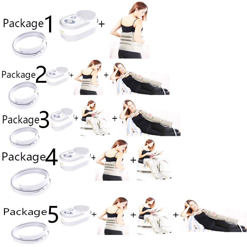 Voltage Pneumatic Leg Massager Promotes Blood Circulation to Relieve Pain Fatigue Waist / Body Massager