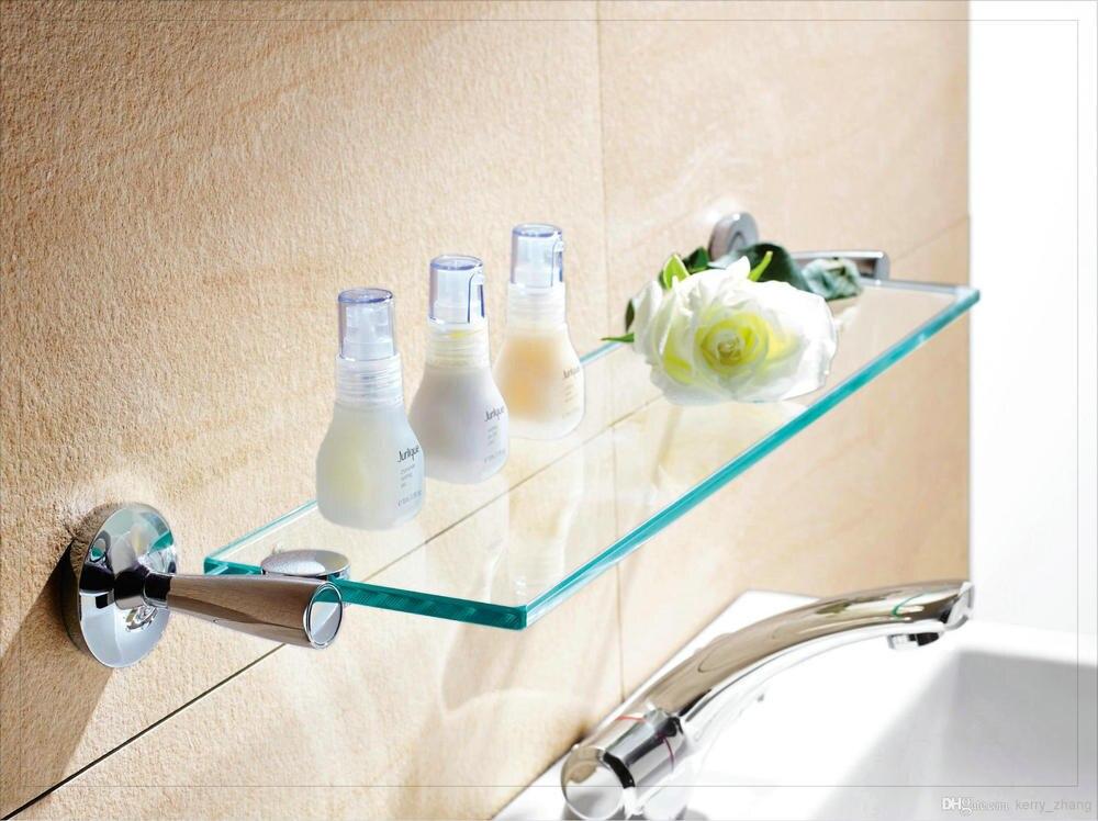 Accessori per il bagno/hardware singola bagno mensola di vetro con ...