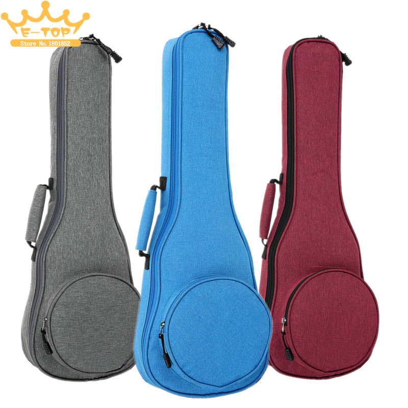 10mm Cotton Soft Case Gig Waterproof Oxford Cloth 21 Inch Ukulele Bag Ukelele Hawaii Four String Guitar Backpack 12mm waterproof soprano concert ukulele bag case backpack 23 24 26 inch ukelele beige mini guitar accessories gig pu leather