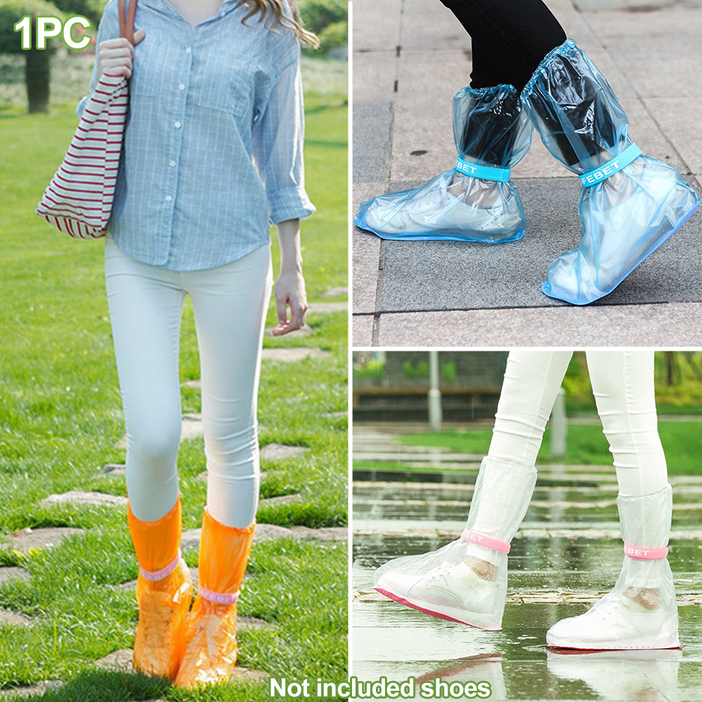 1pair Waterproof Shoe protector with High Top and Anti Slip Sole Made of PVC Material for Unisex to Keep Your Shoes Dry and Clean 1