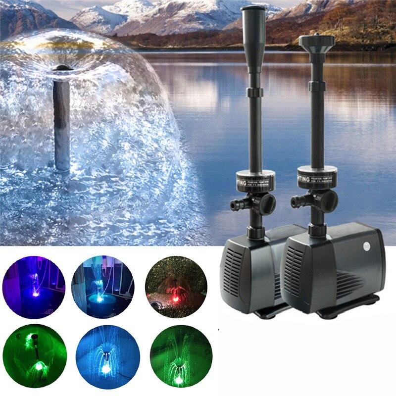 40w 2000l/h Fish Pond Aquarium Led Submersible Water Pump Garden Decoration Fountain Pump Led Light Color Change Fountain Maker