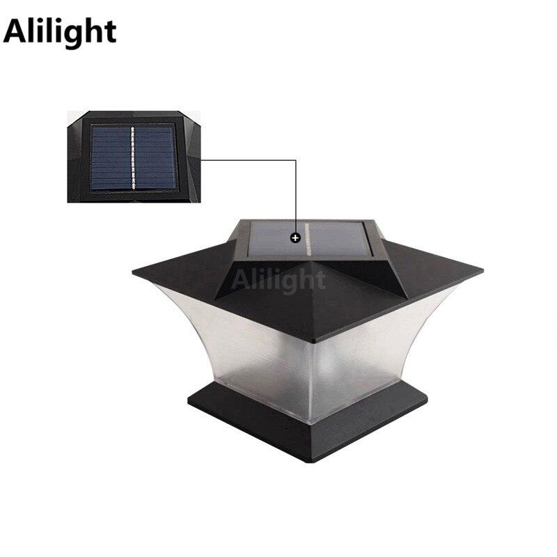 Modern solar lamps led pillar light fence lamp column light mount outdoor lighting landscape - Modern outdoor solar lights ...