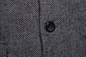 Image 5 - ファッションスーツフォーマルドレスベスト Colete Masculino ヘリンボーンジレフィットネスノースリーブジャケット結婚式チョッキ男性 XXL
