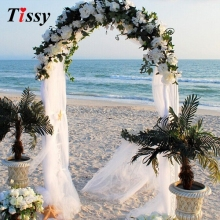 1000cm X 75cm White Roll morbido Sheer Wedding Chair Sash Bows Swag Party Organza tessuto per la decorazione di nozze fai da te